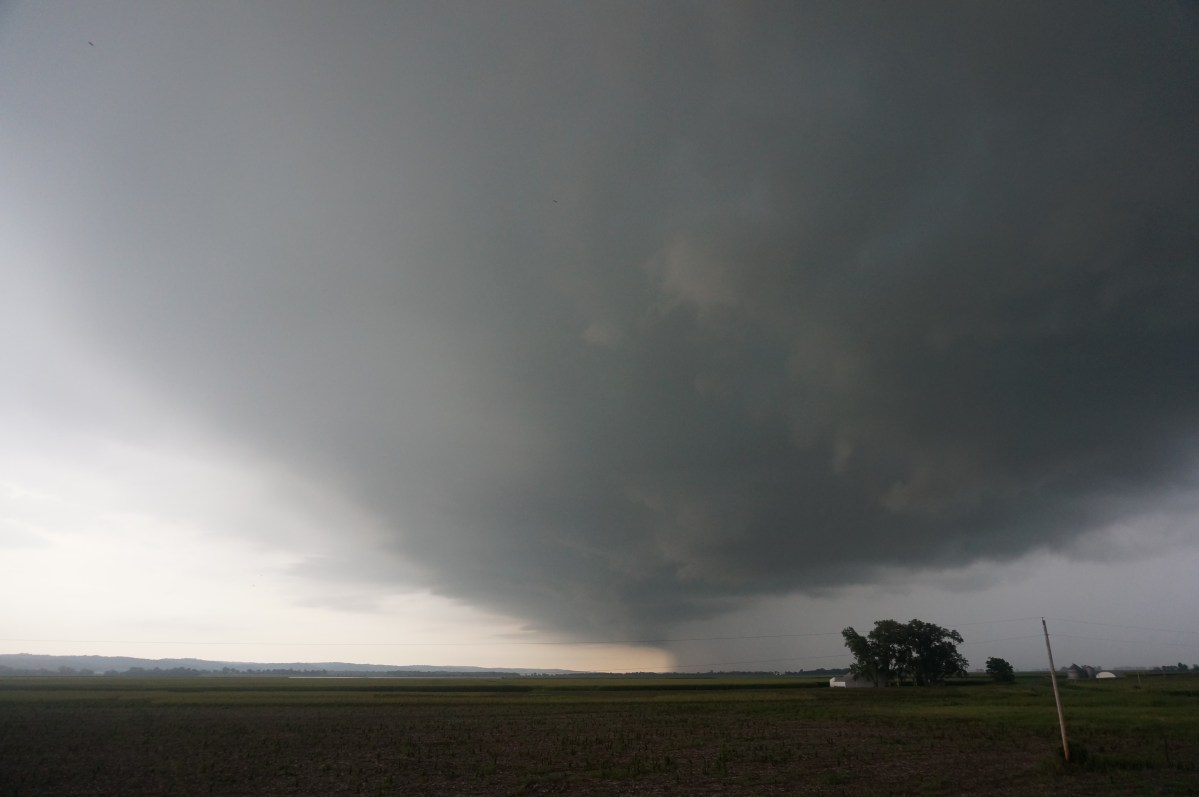 Trying to outrun a storm between Gorham and Chester, IL.