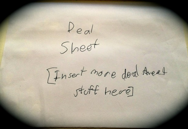 Deal Sheet