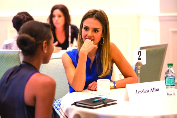 Jessica Alba Coaching Mentee at Fortune MPW Conference