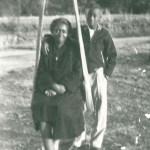 Mother Effie and her brother on the family farm, 1949