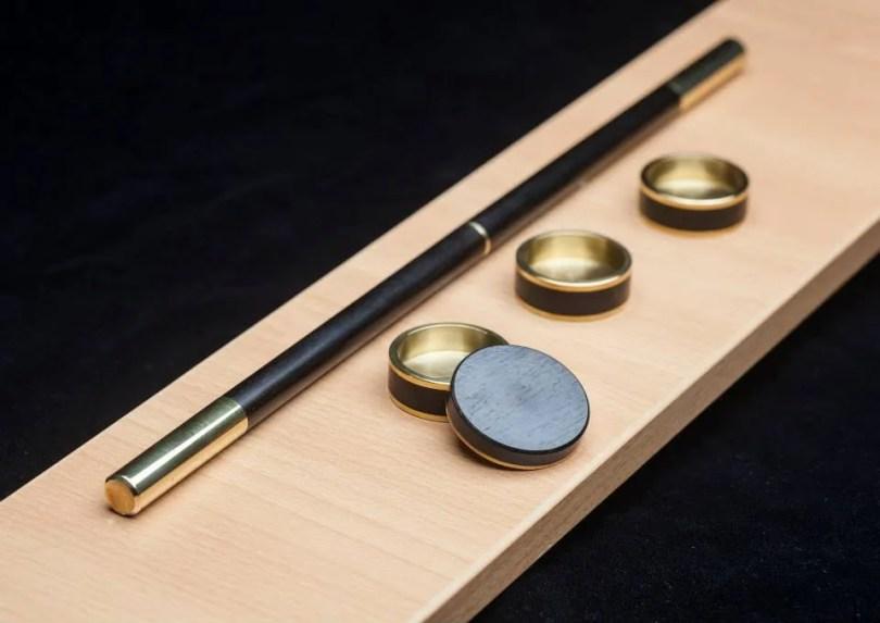Ebony wood Okito, Slot and Boston coin box