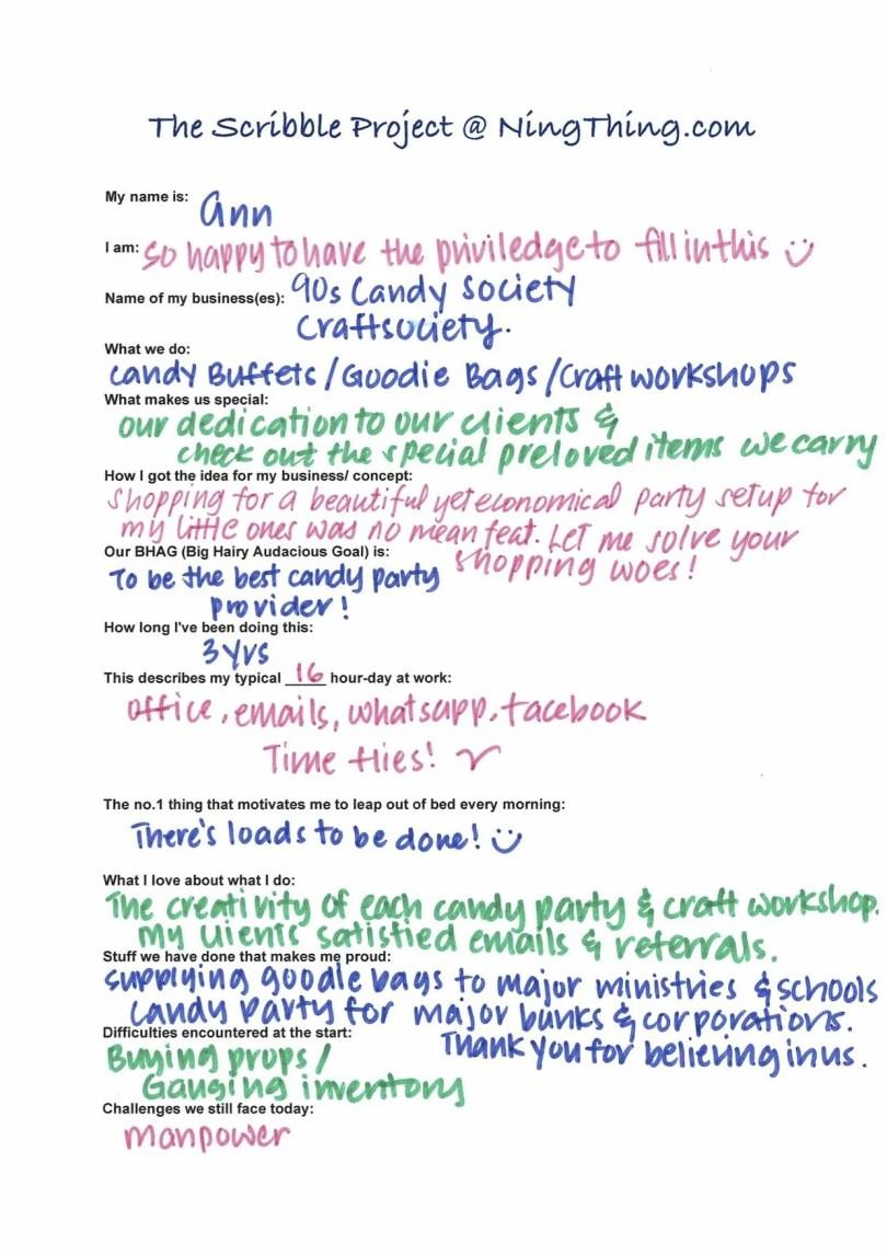 Scribble Project - Ann