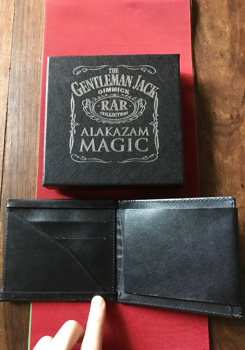 The wallet itself also has slots for putting in credit cards and other cards to make it seem even more like a normal wallet.