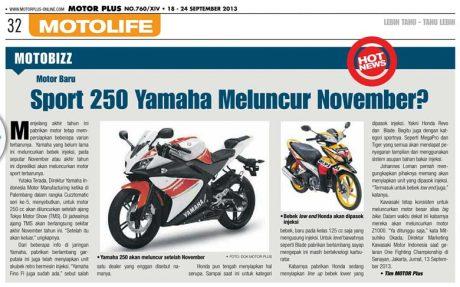 250 ymh Kapan Yamaha 250 cc Rilis dan Produksi di Indonesia?