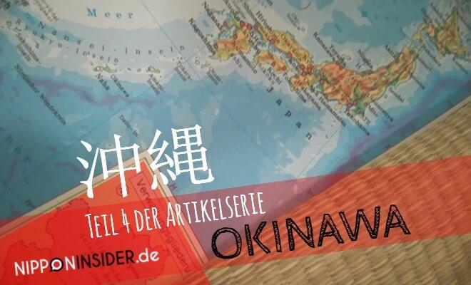 Teil 4 der Artikelserie OKINAWA. Bild einer Japankarte, etwas gedreht, damit sie ganz drauf passt. Nipponinsider