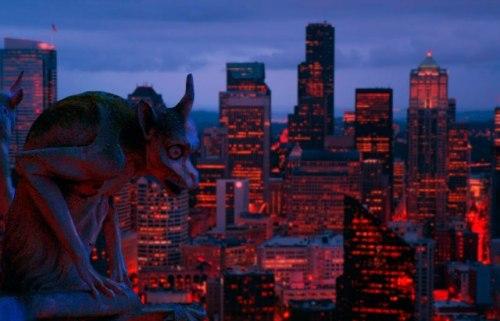 create a beautiful night city manipulation using photoshop