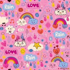 Cute rainy season illustration