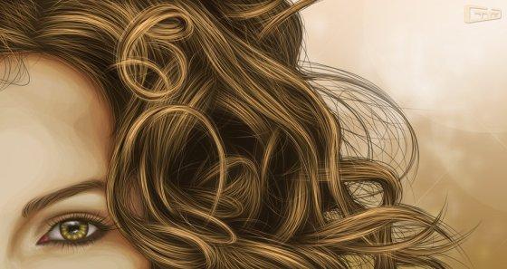 kulot_by_yanski19 painting realism of a hairy woman