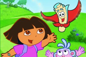 Dora the Explorer - with Boots and the Flying Map