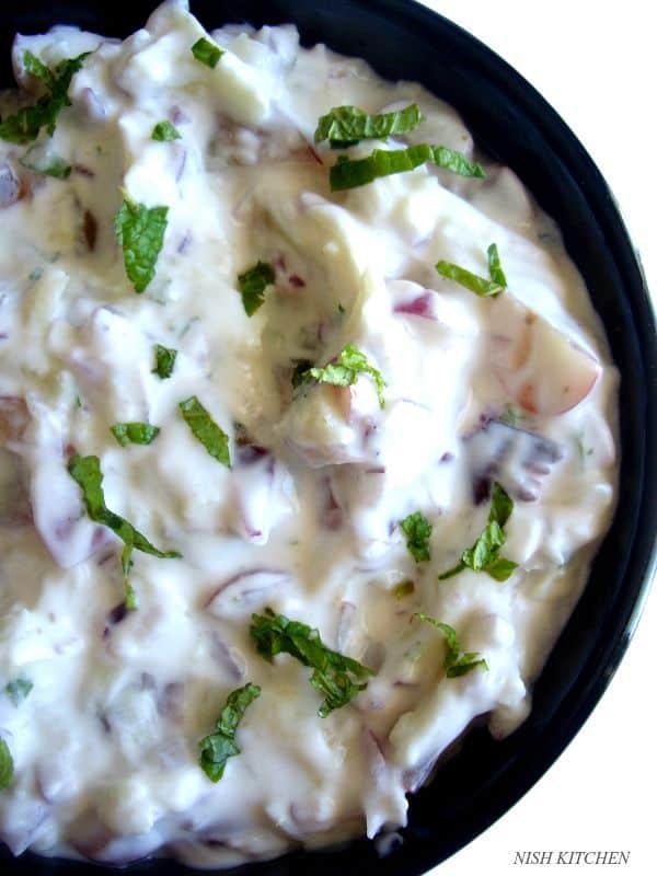 Grapes Apple Mint Raita   raita recipes   nish kitchen
