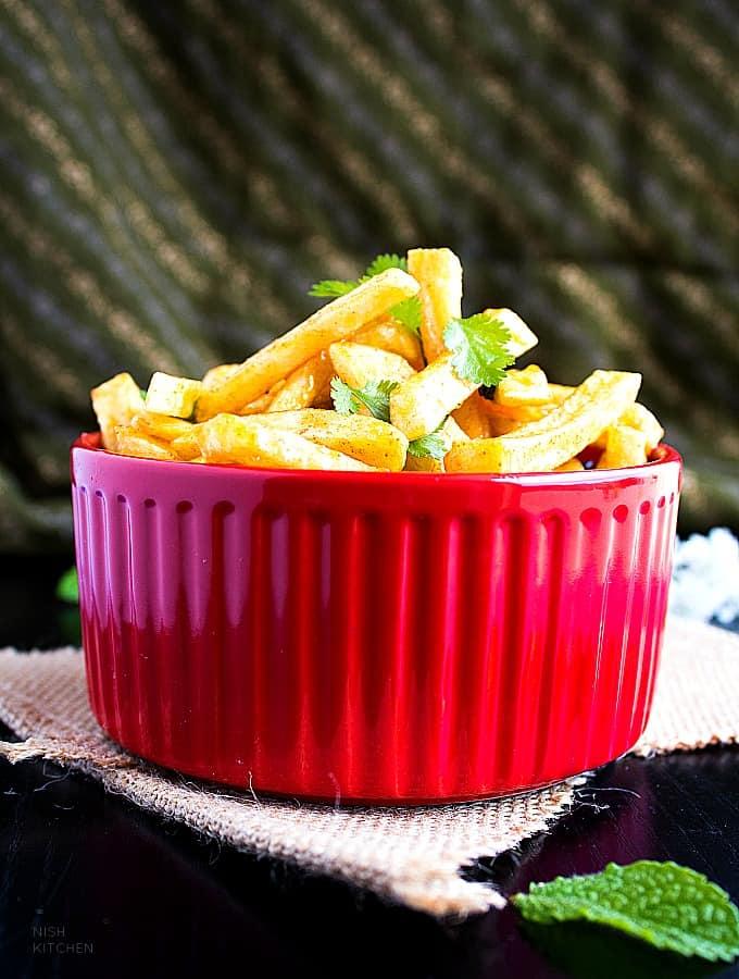 honey chilli potato recipe video