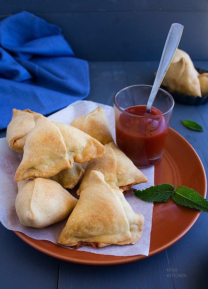 baked veggie samosa