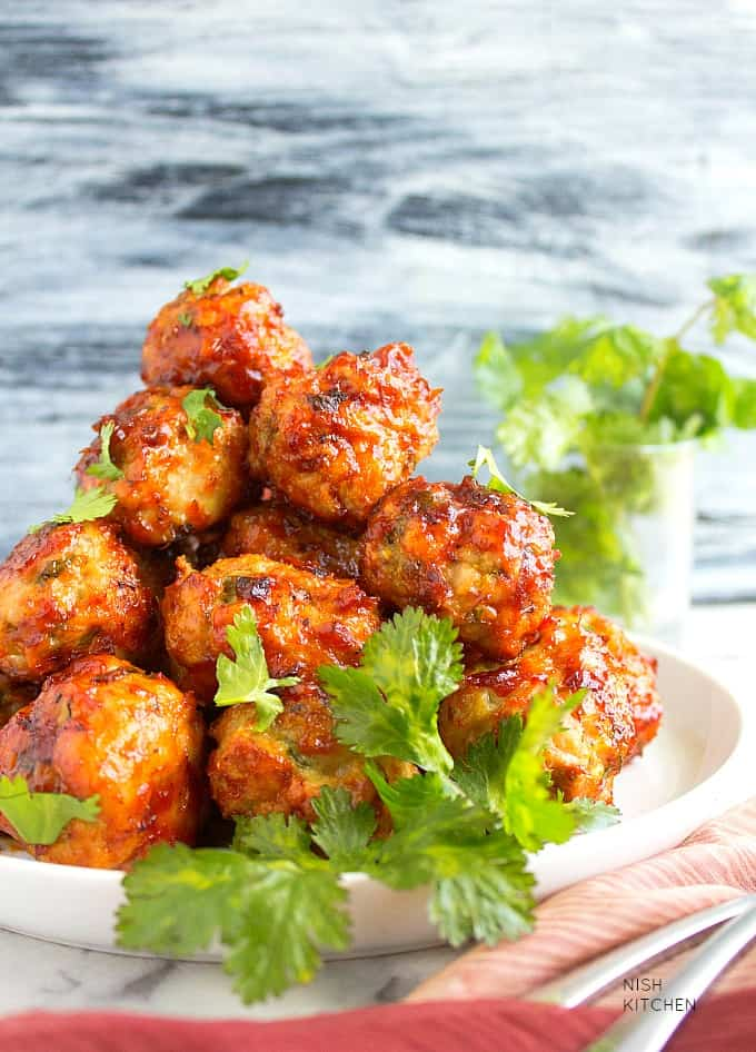 tandoori chicken meatballs recipe