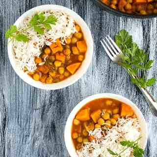 sweet potato chickpea curry recipe video