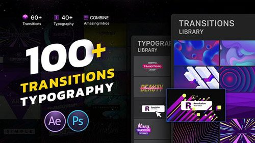 Transitions & Typography Library - Project for After Effects (Videohive)