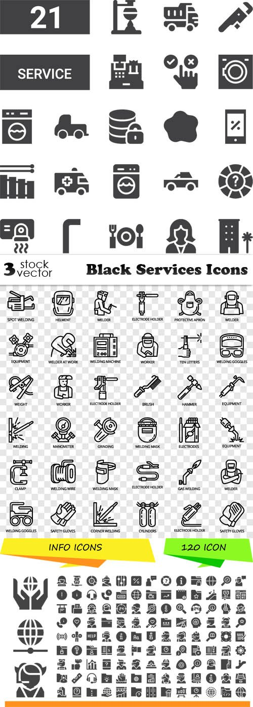 Vectors - Black Services Icons