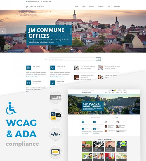 Joomla-Monster - JM Commune Offices v1.08 - Joomla WCAG 2.0 compliant template including 508 & ADA