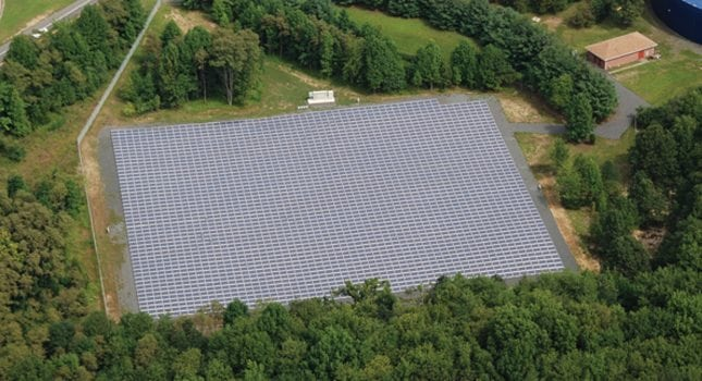 This three-acre, 900kW solar energy system for the Marlboro Township Municipal Utilities Authority (MTMUA) is comprised of 4,186 Sharp solar modules. It was designed by Advanced Solar Products, Inc., Flemington.