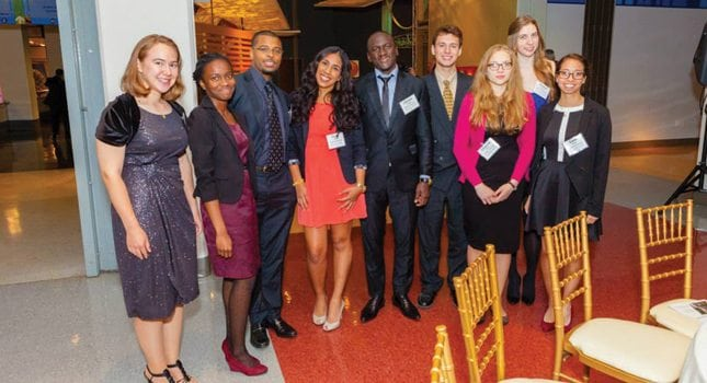 Pictured here at the 34th Edison Patent Awards is the Research & Development Council of New Jersey's 2013 Class of Merit Scholars – community colleges students excelling in a STEM-related major.