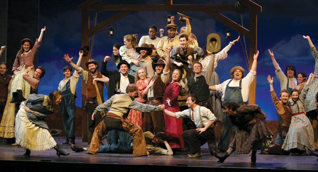 """Westminster Choir College in Princeton stages its rendition of """"Oklahoma."""" (Photo Courtesy of Princeton Regional Convention & Visitors Bureau)"""