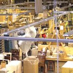 The plant floor of Gar Products, Lakewood, a leading maker of furniture for the hospitality industry.