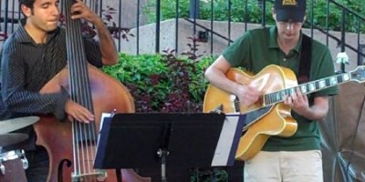 Chris Budhan and Ian Toms, still playing jazz at Always on Stage (photo: Stephen Pate 2010)