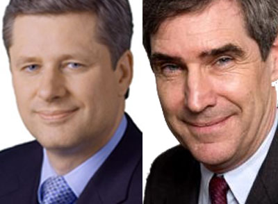 Prime Minister Stephen Harper, Opposition ? Michael Ignatieff, who is minding the bank while they divide $3 billion in patronage