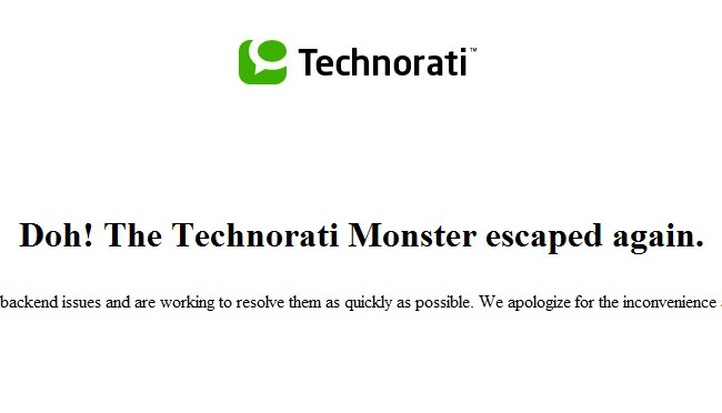 Technorati troubles keep on coming
