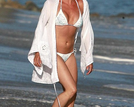 Nicollette Sheridan was thinking of going in but still had her top on