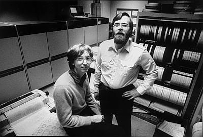 Bill Gates and Paul Allen in the early days of Microsoft