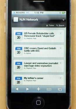 NJN Network on iPhone