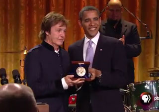 Sir Paul McCartney performs at White House