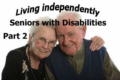 Seniors with disabilities need assistive devices and home care