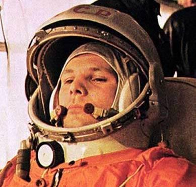 Yuri Gagarin, first man in space (picture www.aerospaceguide.net )