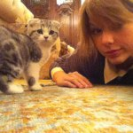 Taylor Swift talks to her cat and boosts career