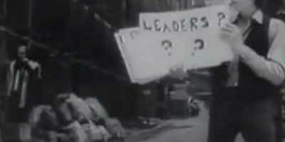 """Don't follow leaders, watch your parking meters"" - Bob Dylan 'Subterranean Homesick Blues'"