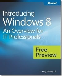 Free eBook - Introducing Windows 8 for IT professionals