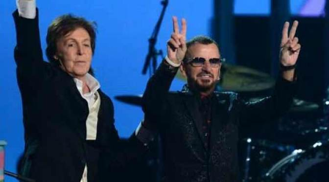 Paul McCartney and Ringo Star at the 2014 Grammys (photo Consequence of Sound)