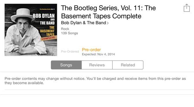 Bob Dylan Basement Tapes Complete $49.99