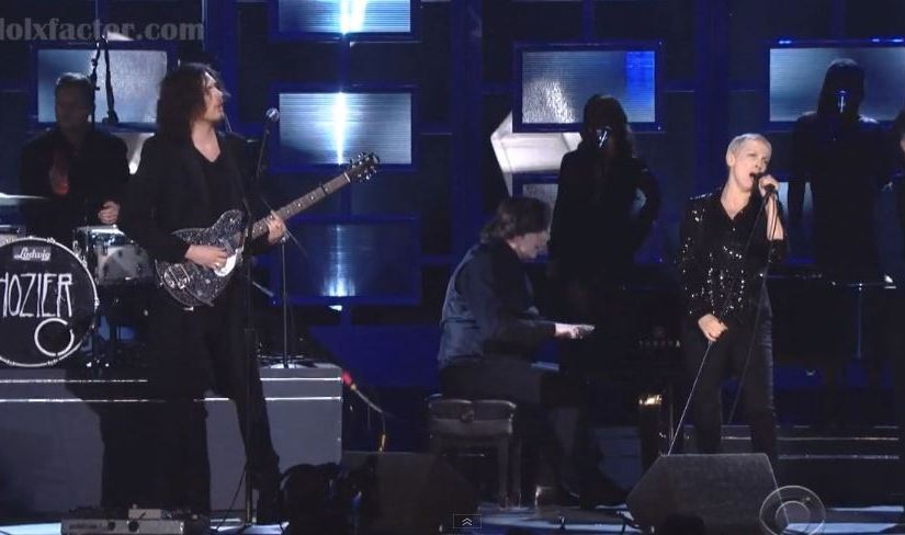 Annie Lennox and Hozier Perform Put A Spell On You At Grammys 2015