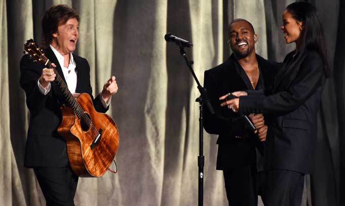 Rihanna, Kanye West & Paul McCartney – FourFiveSeconds – Grammys Awards 2015