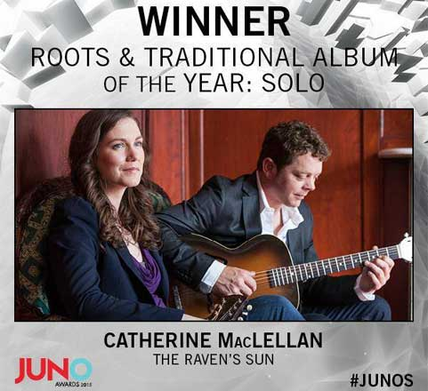 Catherine MacLellan 2015 Juno for The Raven's Song
