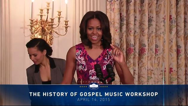 First Lady At the History of Gospel Music Workshop