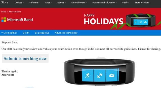 Microsoft Censors Store Reviews