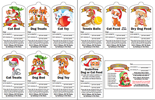 2016 Buddy's Buddies Pet Giving Tree Tags