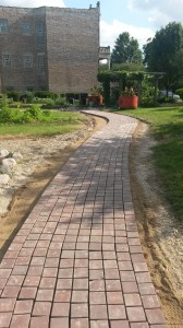 Newly Paved Pathway in the African Garden