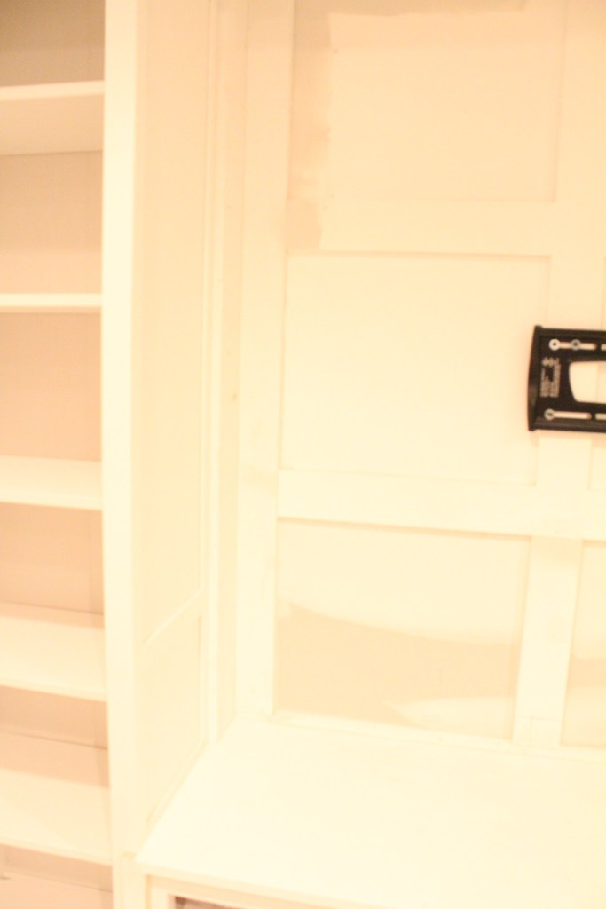 built ins using ikea hemnes