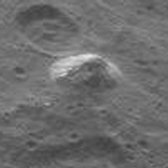 ケレスで発見されたピラミッド状の山