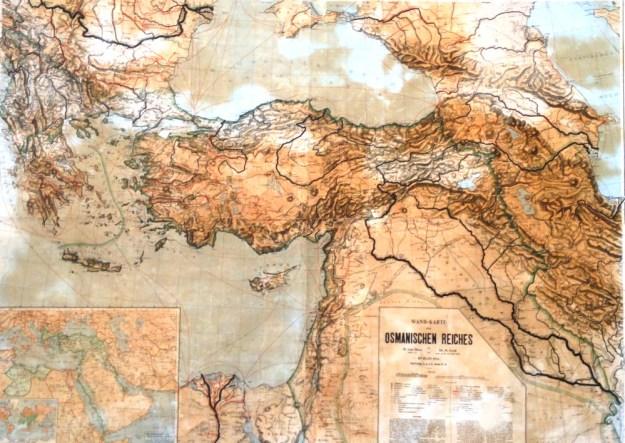 image of German map of Ottoman empire, al Haram al-Sharif Jerusalem