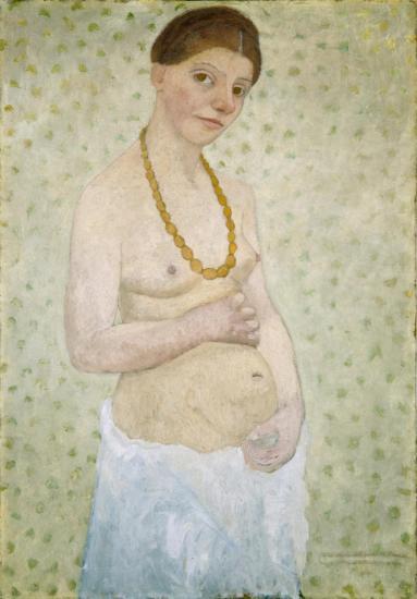 Paula Modersohn-Becker: Selbstbildnis am 6. Hochzeitstag (1906)
